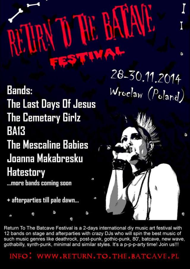 Return To The Bat Cave Festival - plakat
