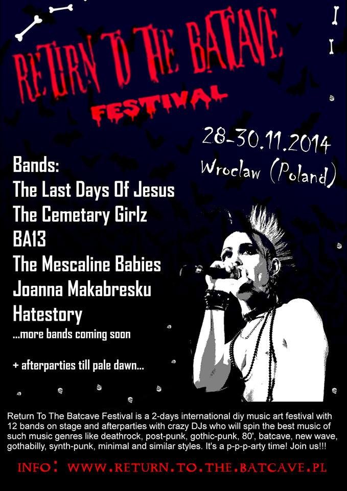 Return To The Bat Cave Festival - plakat
