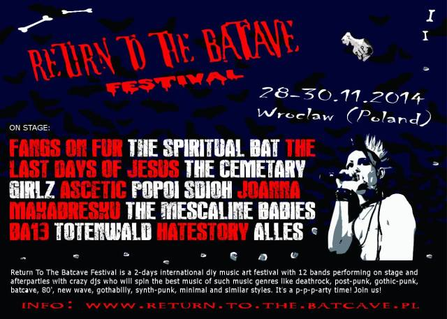 Return To The Batcave Festival 2014  - plakat promocyjny