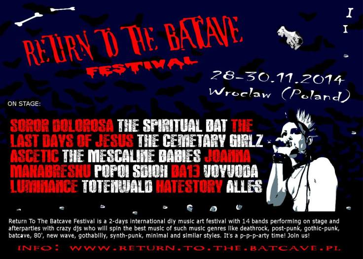 Return To The Batcave Festival 2014 - line up