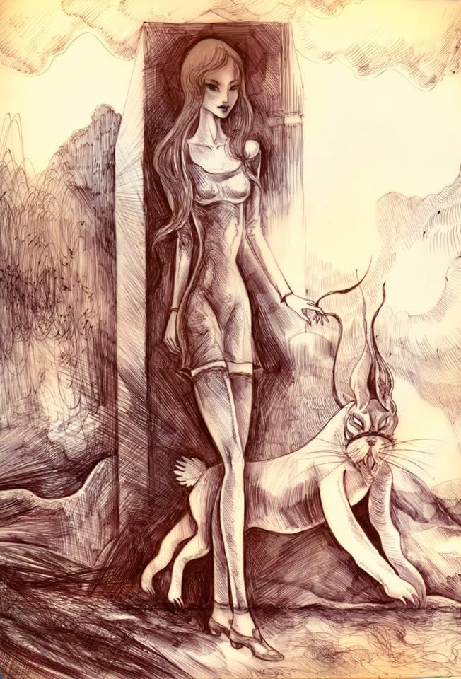 """""""Nadziejanka i jej brytanokrólik"""" © Misior (2014)"""