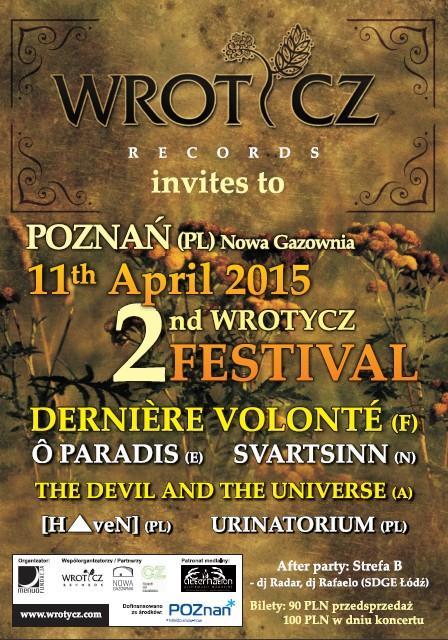 2nd Wrotycz Festival 2015 - plakat wydarzenia