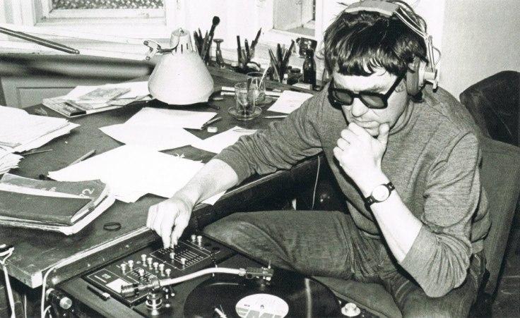 Zdzisław Beksiński w swojej pierwszej pracowni w Sanoku (około roku 1962)