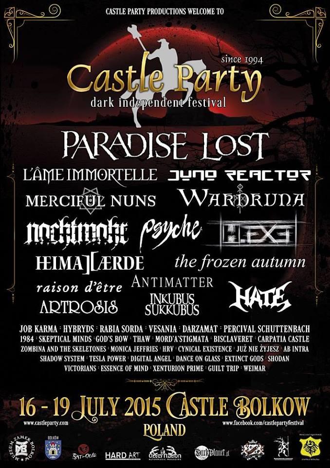 Castle Party Festival 2015 (oficjalny plakat)