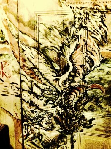 Dominika Daszewska - bez tytułu (fragment obrazu na drzwiach)