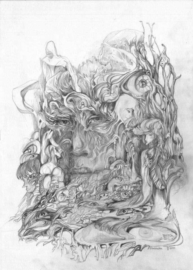Dominika Daszewska: bez tytułu (rysunek / b.d. / 2011)