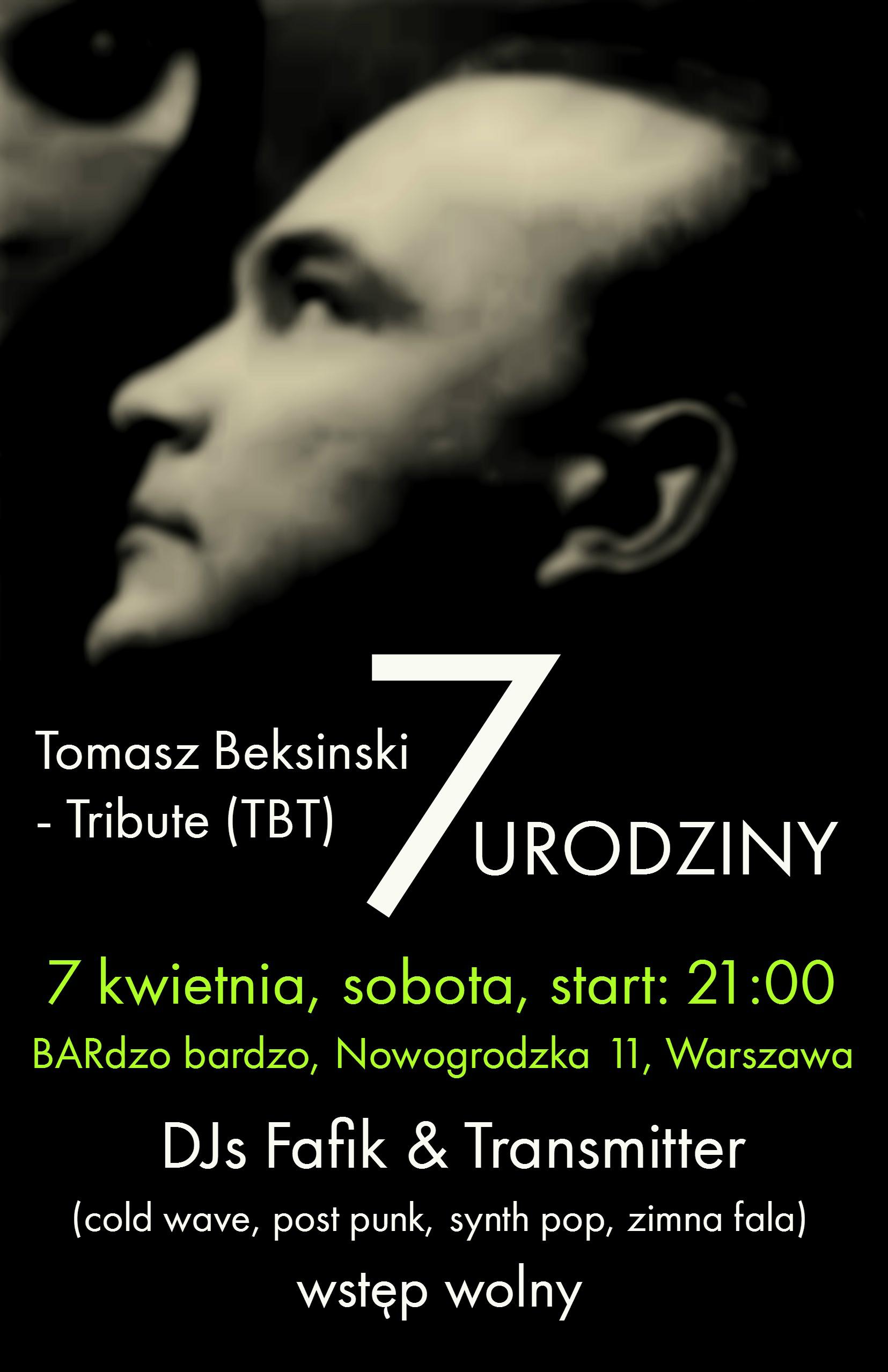 7 Urodziny Tomasz Beksinski - Tribute (TBT) (07.04.2018 - BARdzo Bardzo - Warszawa - Nowogrodzka 11)
