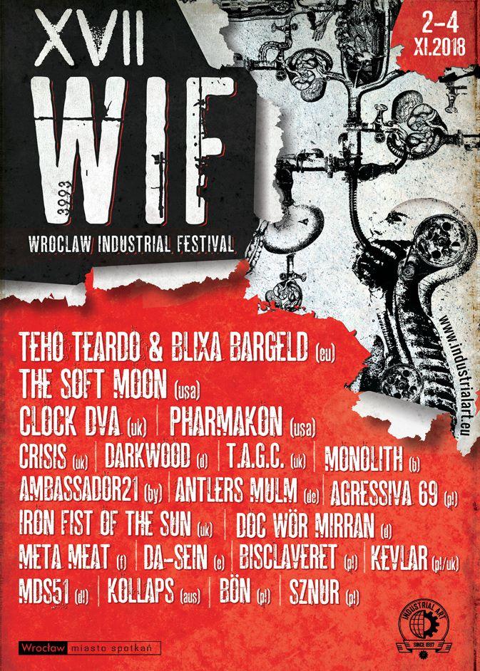 XVII Wrocław Industrial Festival ( Wrocław - 02. - 04.11.2018)