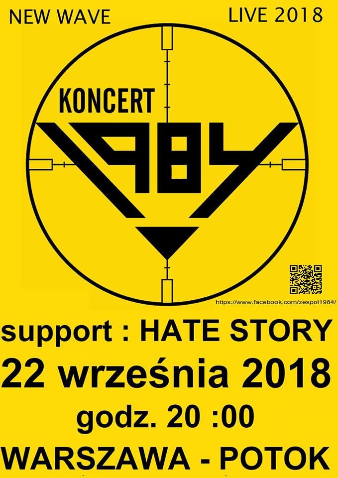 1984 - Hatestory (Potok - Warszawa - 22.09.2018)