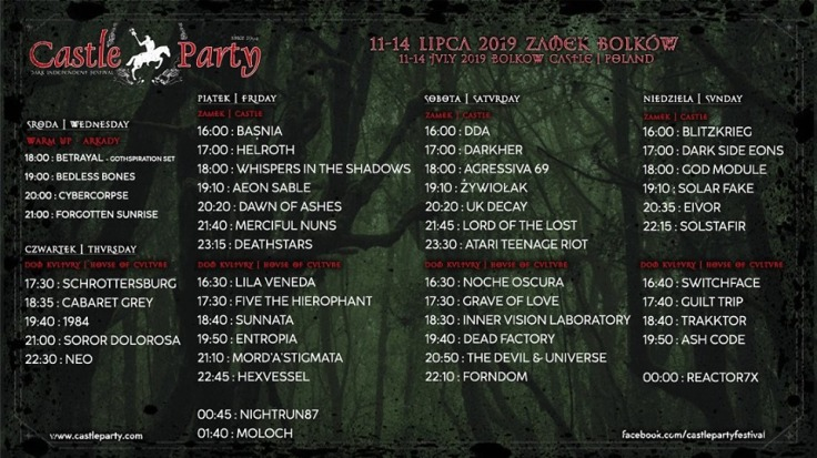 Castle Party 2019 - line-up